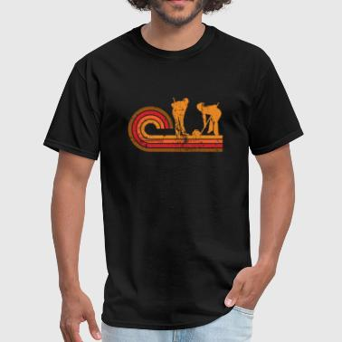 Retro Style Curlers Silhouette Curling - Men's T-Shirt