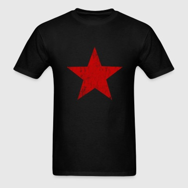 Red Star faded  - Men's T-Shirt