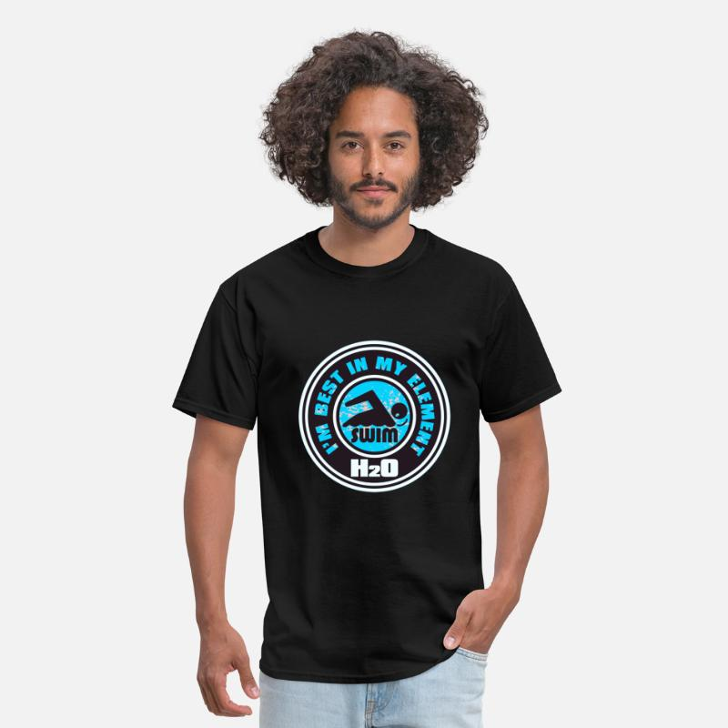 Competition T-Shirts - H2O_SWIMMER - Men's T-Shirt black