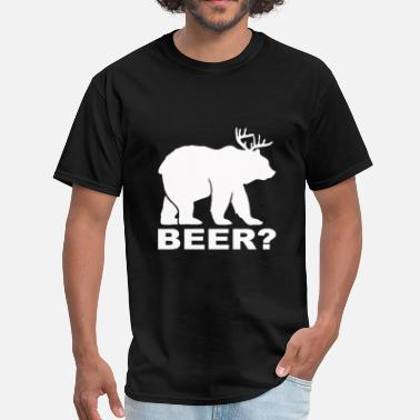 Deer Bear Beer Bear Deer BEER - Men's T-Shirt