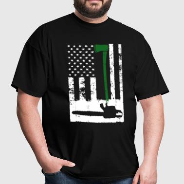 Logger's Flag Shirt - Men's T-Shirt
