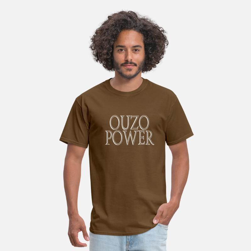 f43530a34d271 Ouzo Power Men's T-Shirt - brown