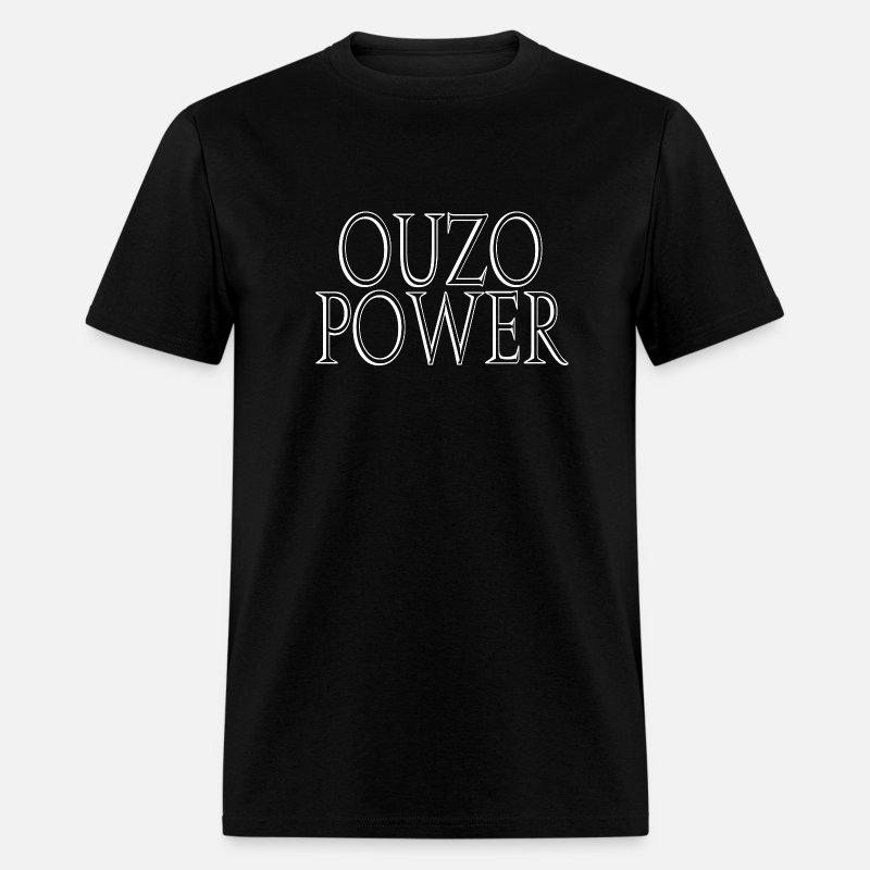 16c28e3a0c5b4 Ouzo Power Men's T-Shirt - mineral black