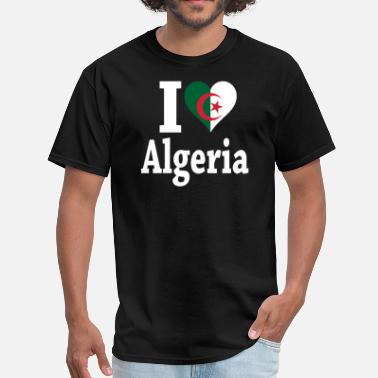 I Love Algeria I Love Algeria Flag - Men's T-Shirt