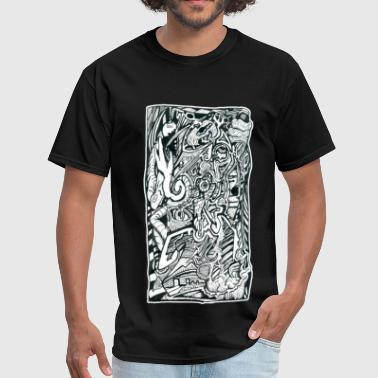Anxiety Attack by Brian Benson - Men's T-Shirt