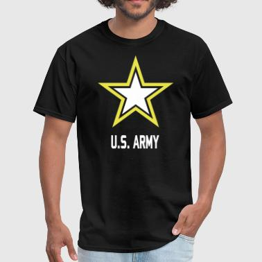 Army Star U.S. military logo for black t-Shirts - Men's T-Shirt