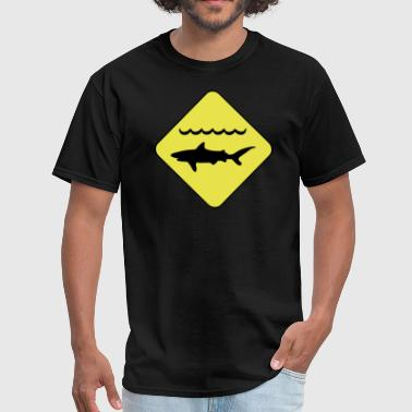 Warning Sharks Shark Warning Symbol - Men's T-Shirt