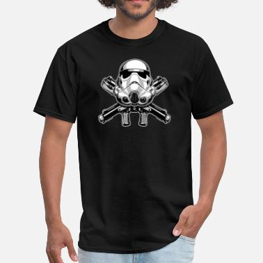 Geek Helmet Helmet and Crossbones - Men's T-Shirt
