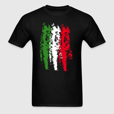 Italy Flag Vintage Graffiti Support - Men's T-Shirt