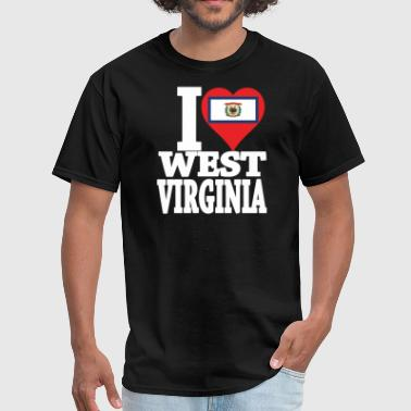 I LOVE WEST VIRGINIA - Men's T-Shirt