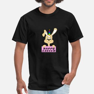 Easter Bunny Rabbit Face Happy Easter / Gift Easter Bunny Rabbit - Men's T-Shirt