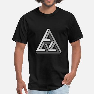3d Illusion 3D illusion grey - Men's T-Shirt