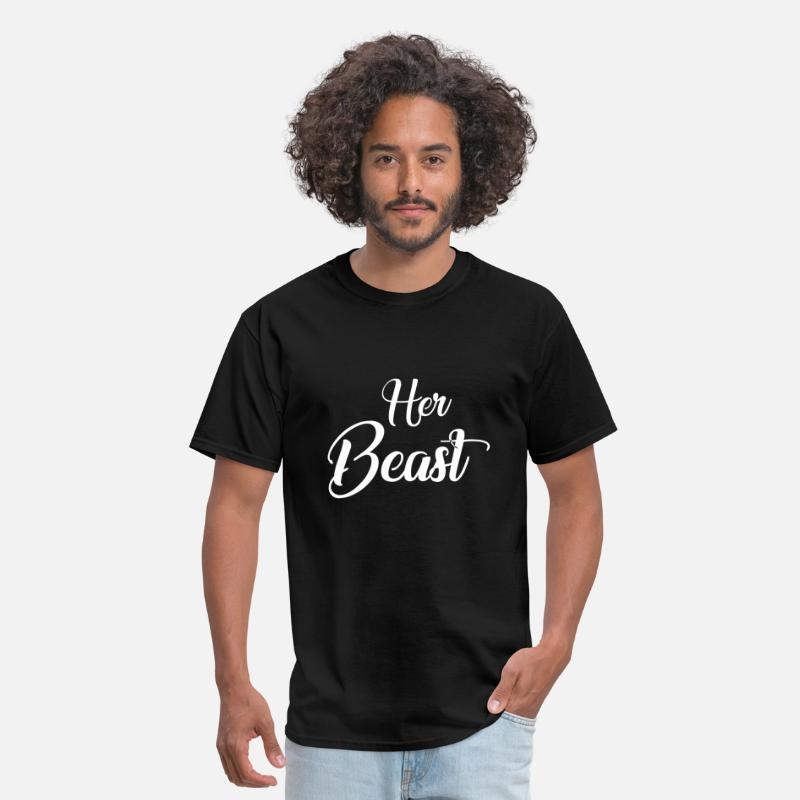 Valentine's Day T-Shirts - Her beauty - Men's T-Shirt black