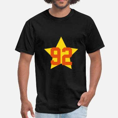 92 Birthday 92 star - Men's T-Shirt