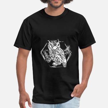 Personality Owl Drawing - Men's T-Shirt