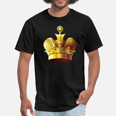 Gold Golden Crown - Men's T-Shirt