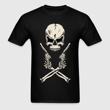Western Cowboy Skull HD - Men's T-Shirt