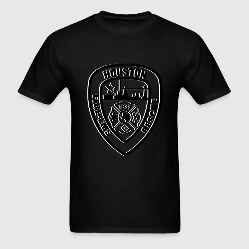 Houston Fire Logo - Men's T-Shirt