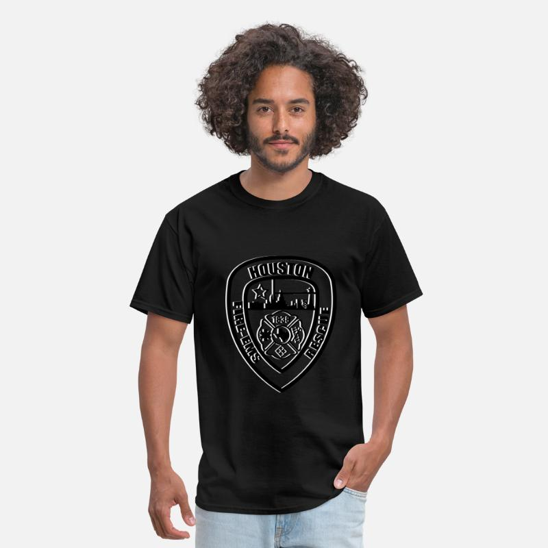 Fire T-Shirts - Houston Fire Logo - Men's T-Shirt black