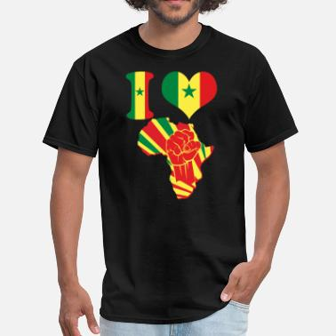 Senegal I Love Senegal Africa Map - Men's T-Shirt