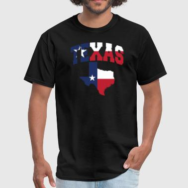 Flag Of Texas Texas Flag Map - Men's T-Shirt