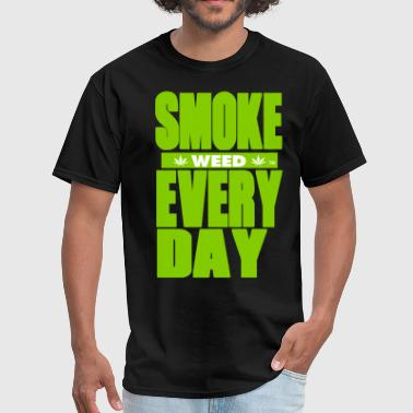Everyday SMOKE WEED EVERYDAY-By Crazy4tshirts - Men's T-Shirt