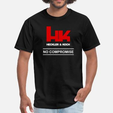 Heckler And Koch HK Logo Heckler & Koch Firearms No Compromise - Men's T-Shirt