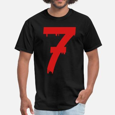 Age lucky number seven - Men's T-Shirt