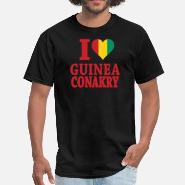 Guinea-conakry Flag I Love Guinea Conakry Flag t-shirts - Men's T-Shirt