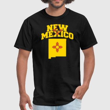 New Mexico Flag Map - Men's T-Shirt