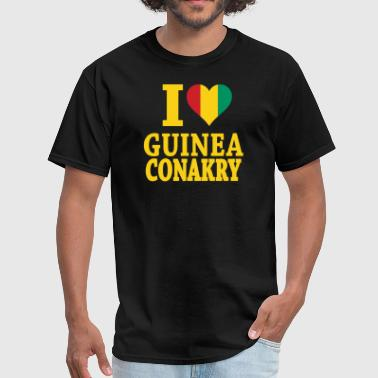 I Love Guinea Conakry Flag t-shirt - Men's T-Shirt