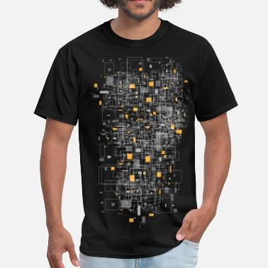 Print squares sqared designer graphic - Men's T-Shirt