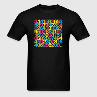 Pi shirt - Rainbow unisex tee - Men's T-Shirt