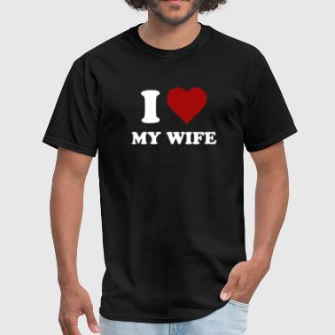 i heart my wife - Men's T-Shirt