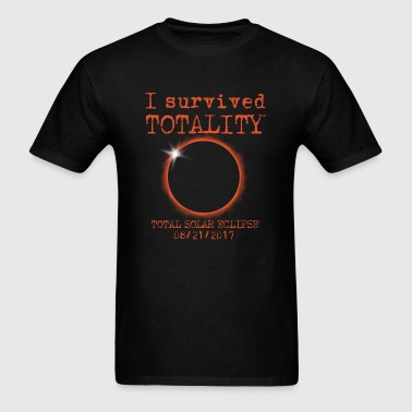Survived Totality Total Solar Eclipse  - Men's T-Shirt