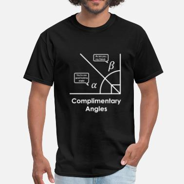 Math Jokes complimentary angles - Men's T-Shirt
