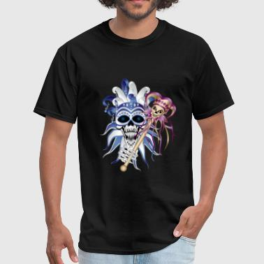 New Orleans Sugar Skull Jester Skull - Men's T-Shirt