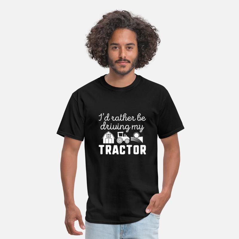 Drive T-Shirts - I'd Rather Be Driving My Tractor - Men's T-Shirt black