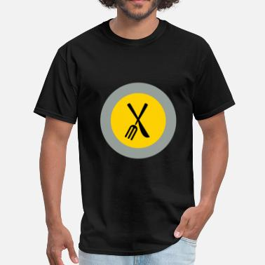 Fork And Plate plate - Men's T-Shirt
