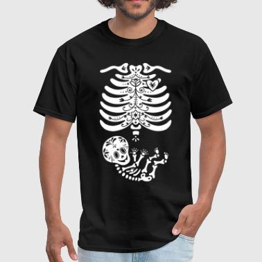 Sugar Skull Maternity Skeleton Skelly Baby - Men's T-Shirt