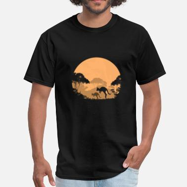 Joey Australian outback in the night - Men's T-Shirt