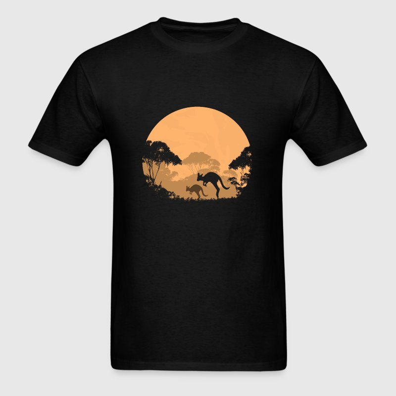 Australian outback in the night - Men's T-Shirt