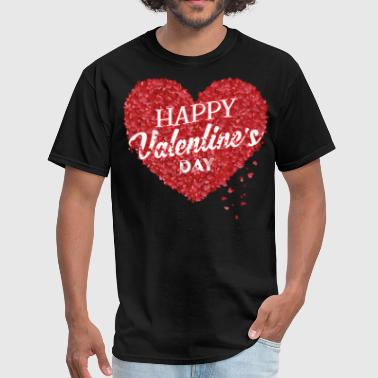 happy valentine's day, valentine - Men's T-Shirt