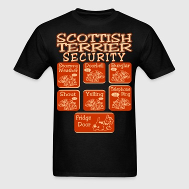 Scottish Terrier Dog Security Pets Love Funny Tees - Men's T-Shirt