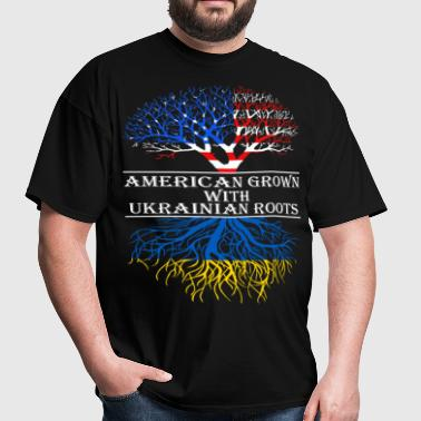 American Grown With Ukrainian Roots - Men's T-Shirt