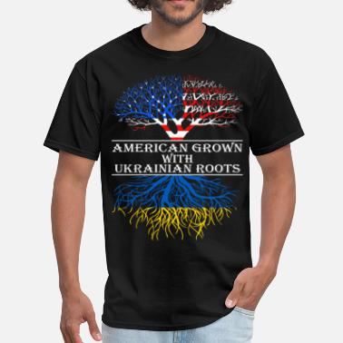 Ukrainian Roots American Grown With Ukrainian Roots - Men's T-Shirt