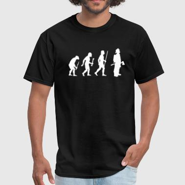 Firefighter Evolution Evolution Firefighter - Men's T-Shirt