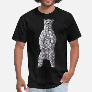 Polar Bear Geometric Polar Bear - Men's T-Shirt