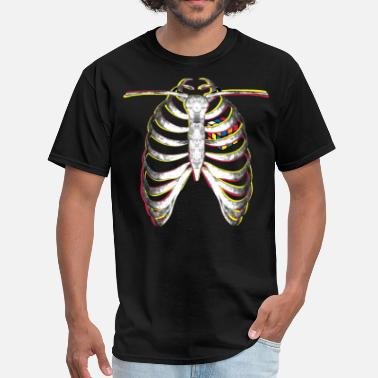 Melting Rubik's Cube Colourful Ribcage - Men's T-Shirt