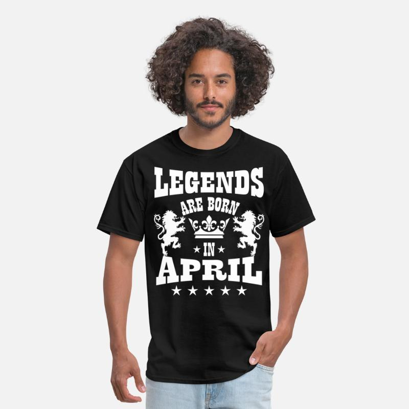 Born T-Shirts - Legends are born in July Lions Crown Birthday - Men's T-Shirt black